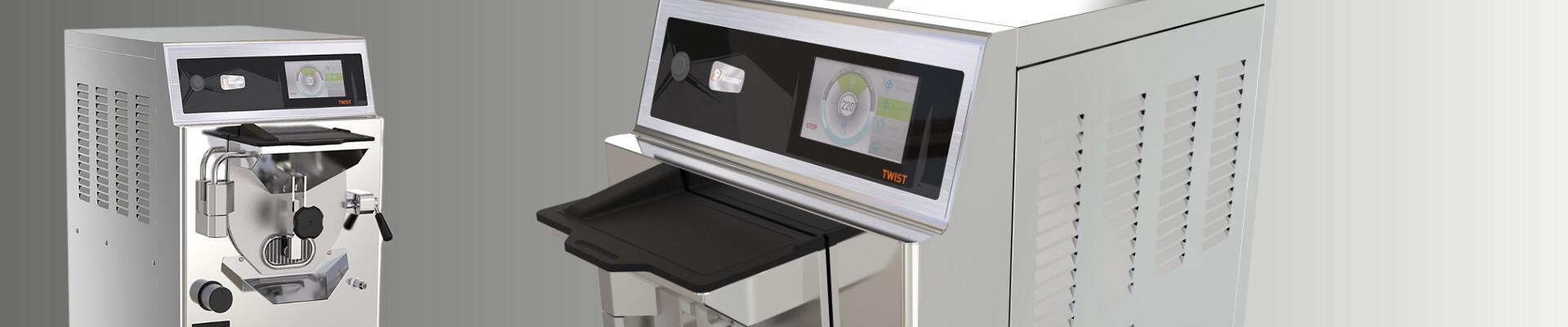 Twist, mantecatore con sistema di lavaggio automatico